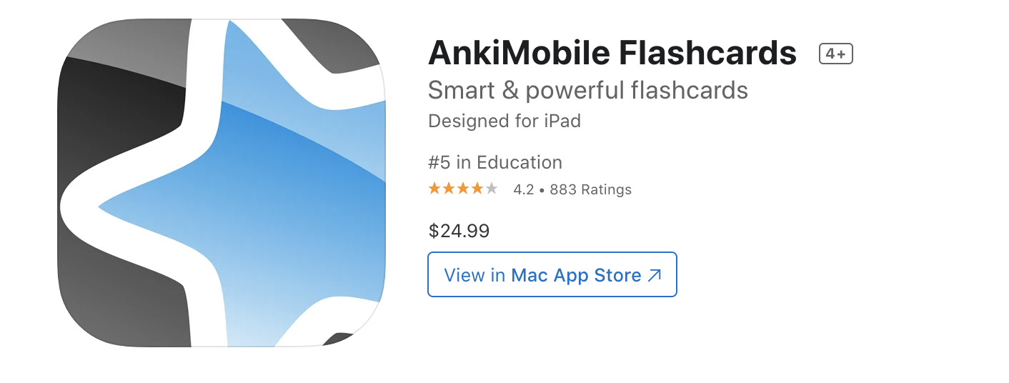 anki flashcard app for learning Chinese