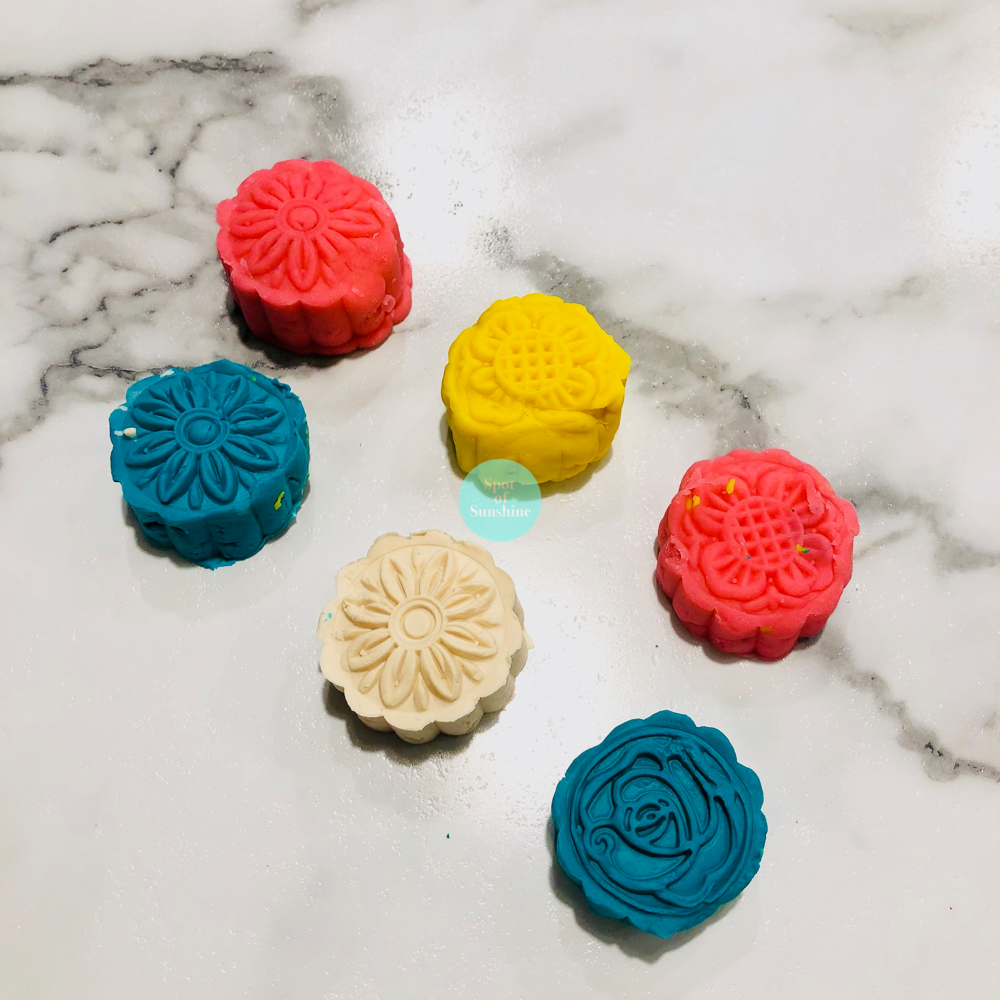 playdough moon cakes mid autumn festival fun activities kids toddlers preschool Chinese