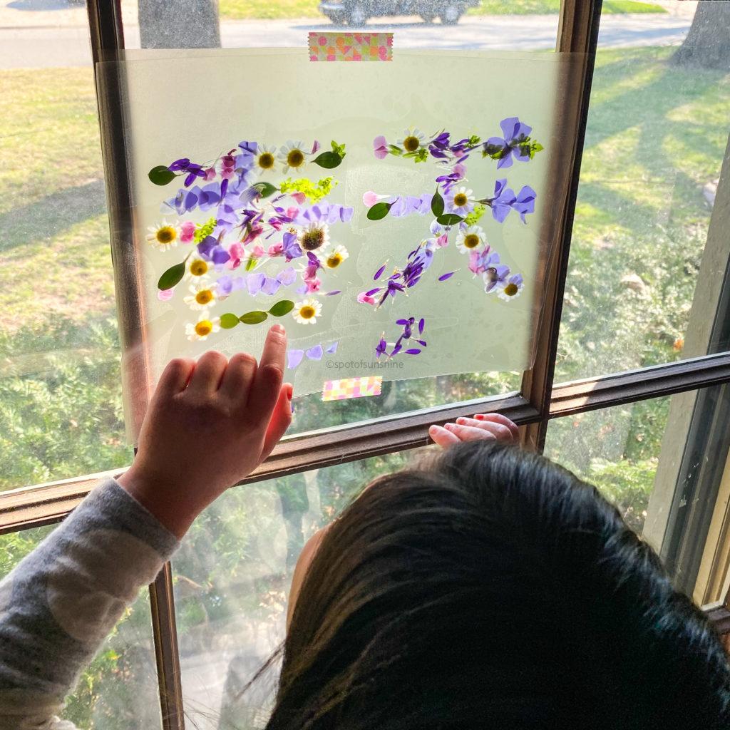 Spring sun catcher craft for kids
