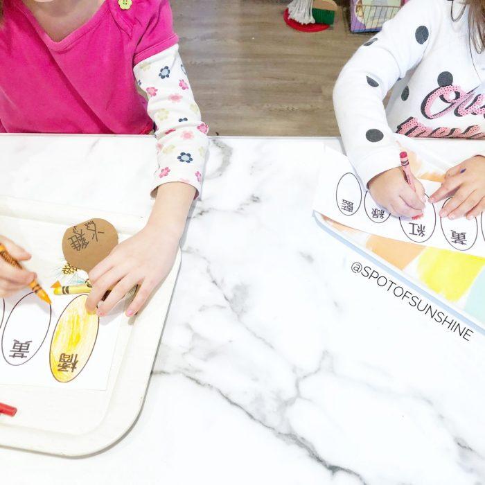 thanksgiving craft DIY 手工 感恩節 兒童活動 toddler preschool early childhood kids children activities 學中文 learn colors turkey 火雞 學顏色